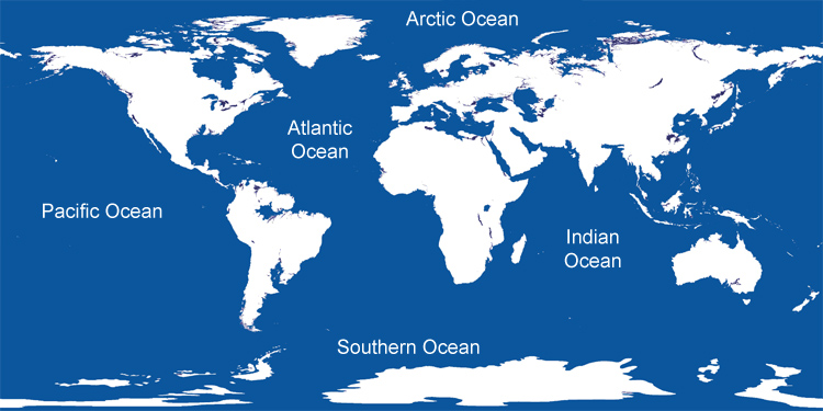 Top Five Largest Oceans of the World